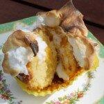 lime merignue cupcake cut