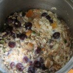 porridge in pan