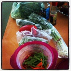 Guest Post: Healthy Lunch, Fish and Stir Fried Veggies