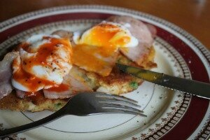 Haloumi Rosti with Poached Egg