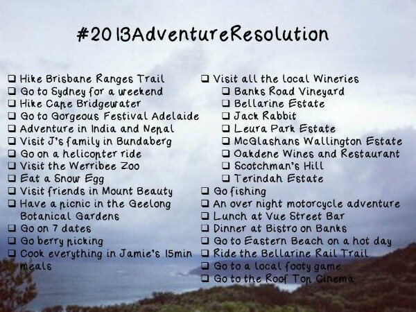 #2013AdventureResolution
