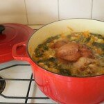 Ham, vegetable and barley soup