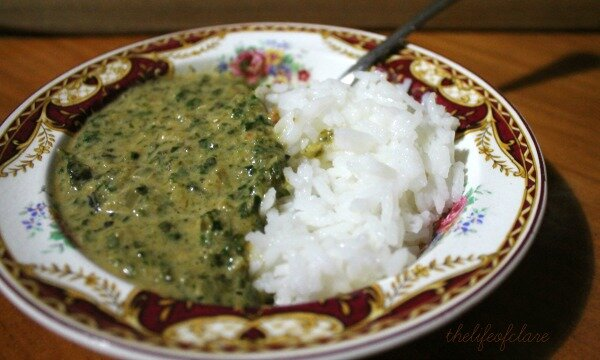 sagwala - spinach curry