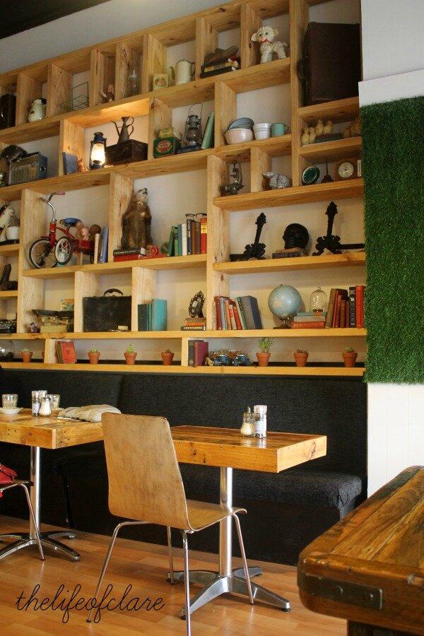 Awkward cafe wall