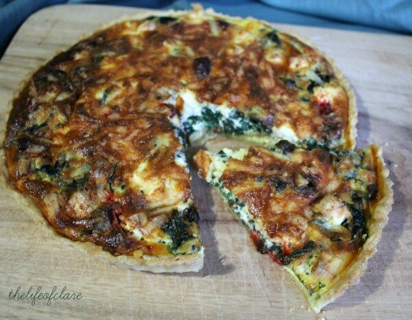 Feta, Beetroot and Spinach Tart