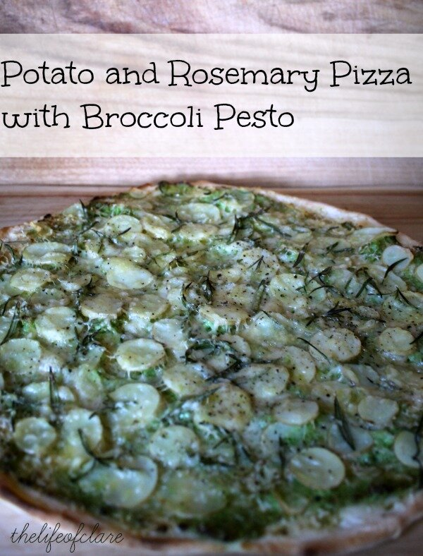 potato and rosemary pizza