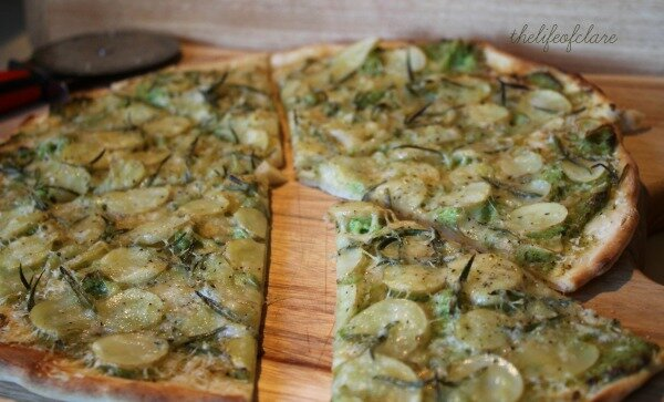 sour dough potato rosemary pizza