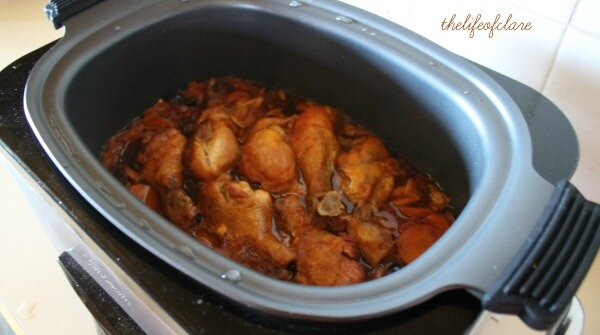 Chicken Cacciatore in slow cooker