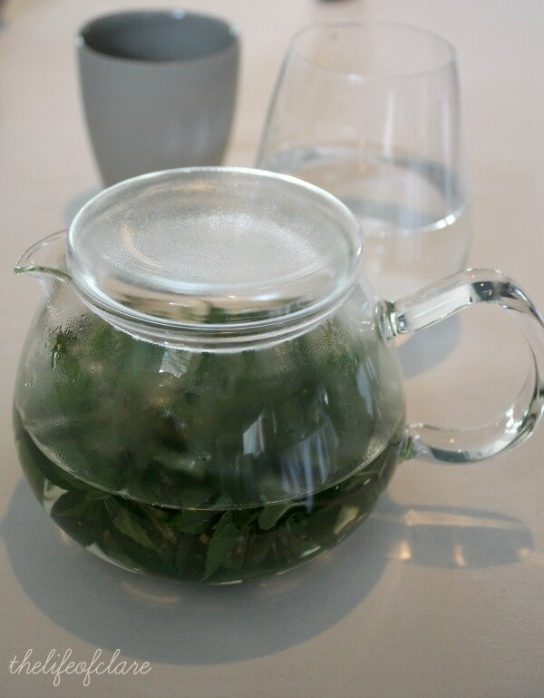 Brae Restaurant mint infusion