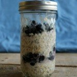 blueberry overnight oats in a jar