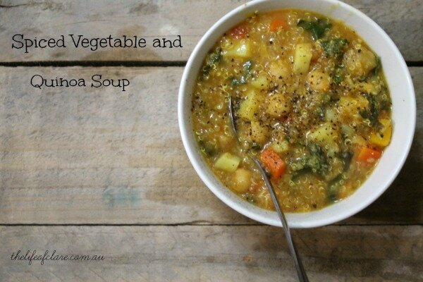 Spiced Vegetable and Quinoa Soup