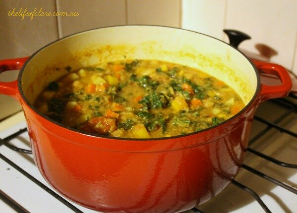 vegetable and quinoa soup