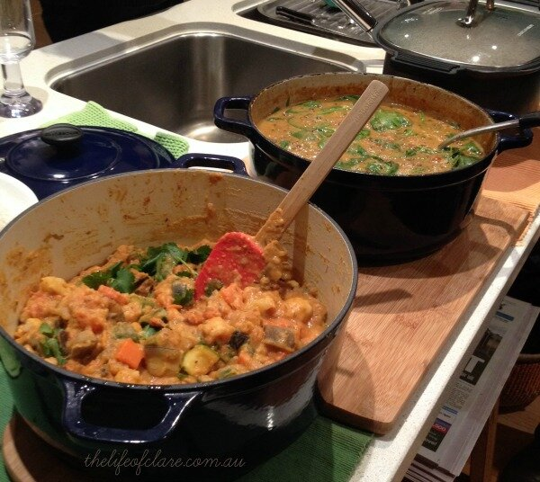 veggie and chicken curry's