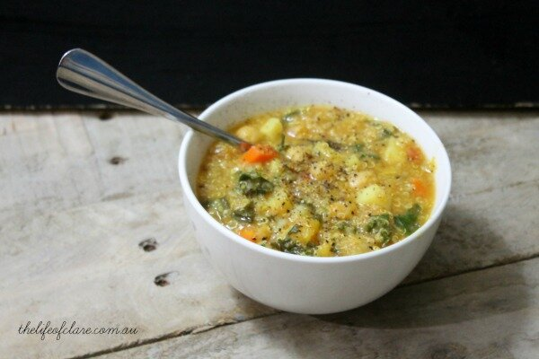 winter quinoa soup