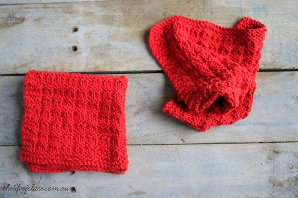 knitted dish rags