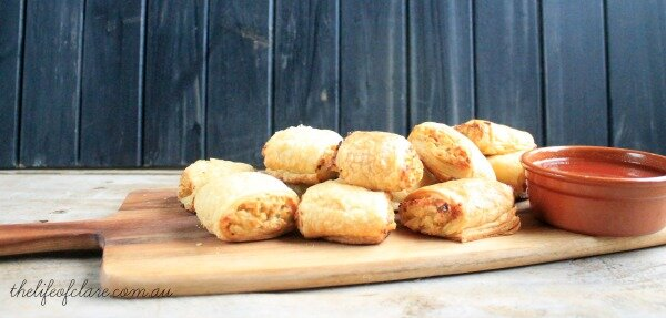 cottage cheese sausage rolls
