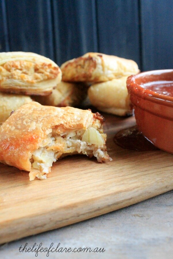 vegetarian cottage cheese sausage rolls
