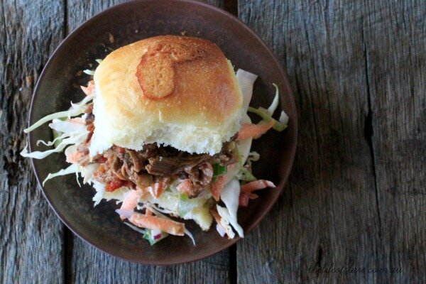 Fruit Chutney Pulled Beef Slider