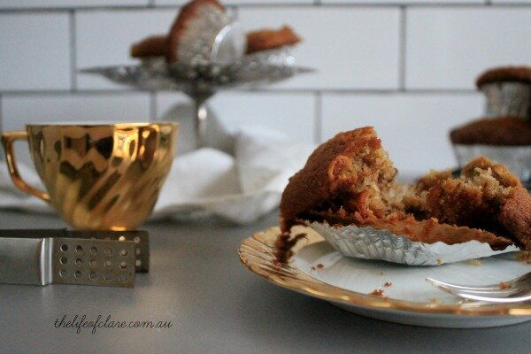 hummingbird cake muffins