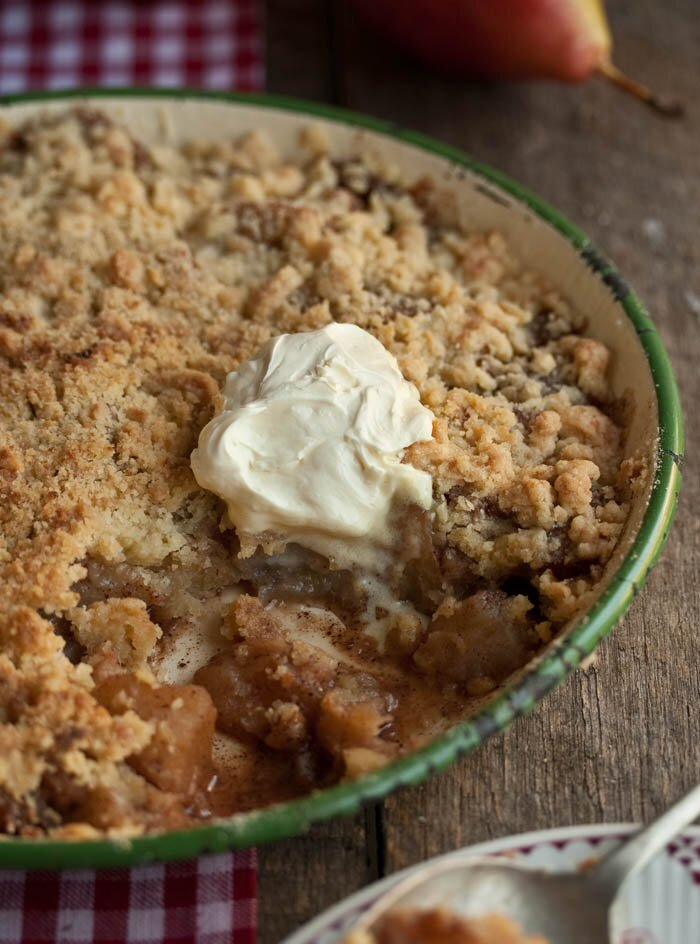 apple quince pear crumble