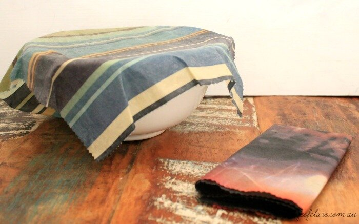 DIY beeswax food covers