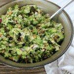 broccoli pine nut salad
