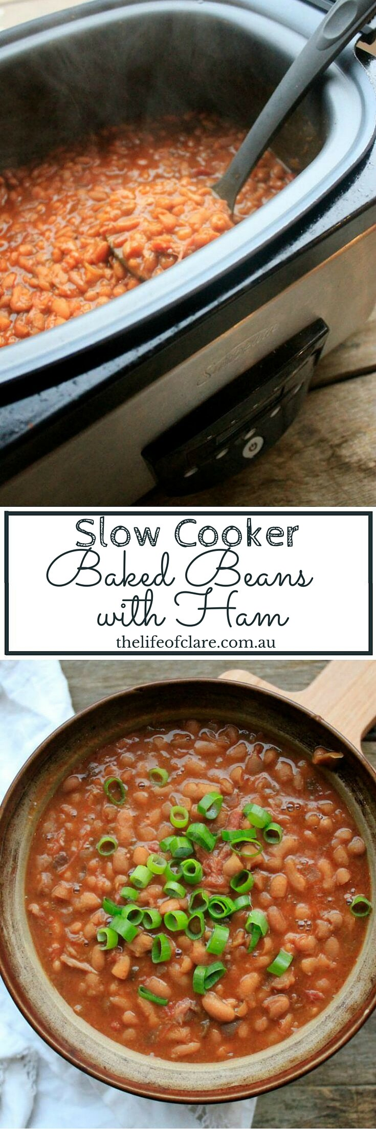 Slow Cooker Ham Baked Beans
