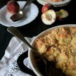 Rhubarb and Peach Crumble
