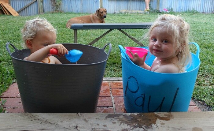 bucket baths