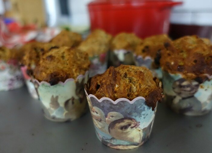 egg free nut free banana muffins
