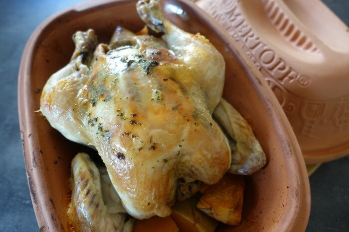 Romtertopf Roast Chicken