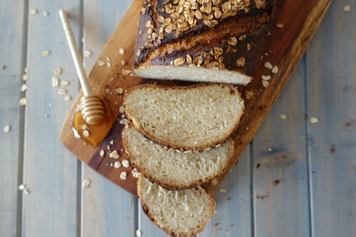 honey and oat sourdough